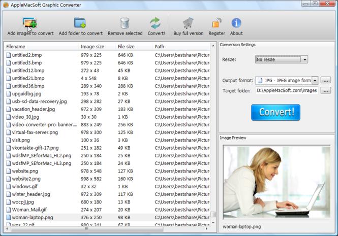AppleMacSoft Graphic Converter Screenshot 1