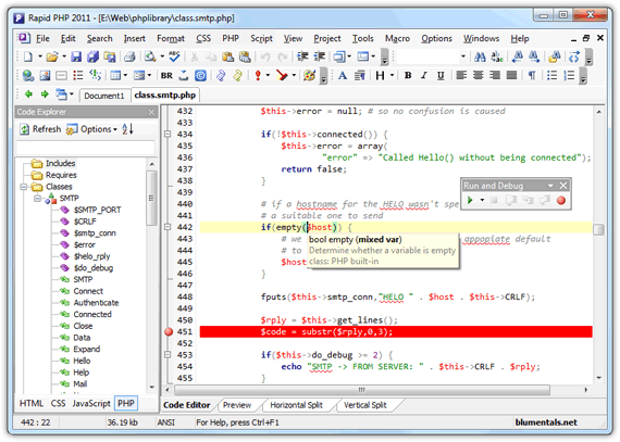 Rapid PHP Editor 2011 Screenshot