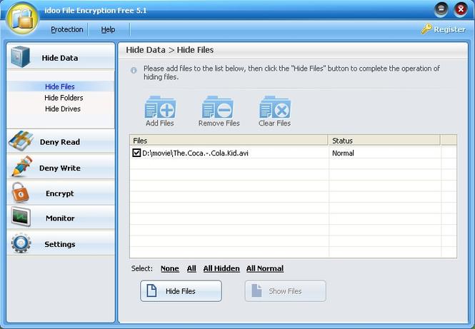 idoo File Encryption Free Screenshot 1