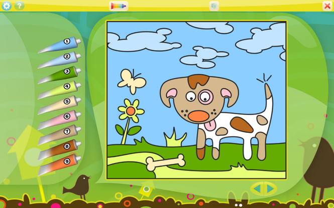Color by Numbers - Animals for Mac Screenshot