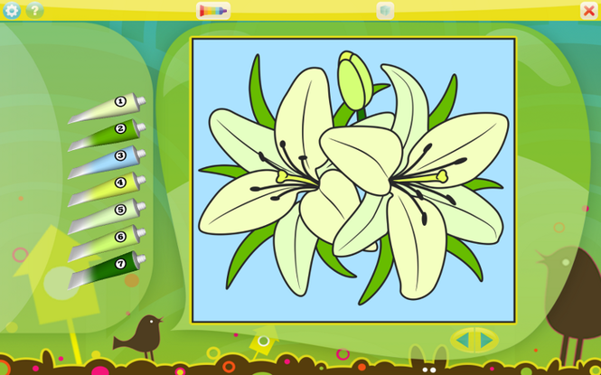 Color by Numbers - Flowers Screenshot 1