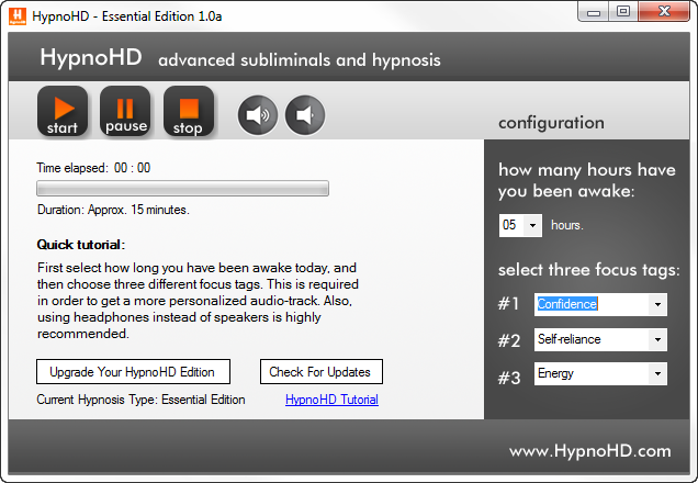 HypnoHD Essential Screenshot 1