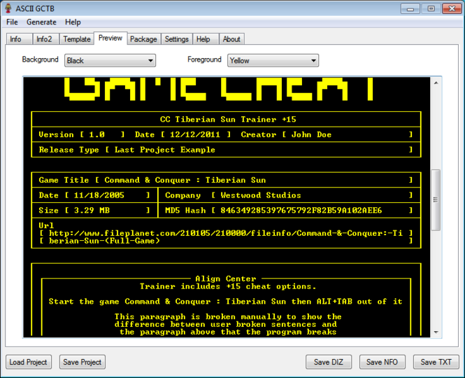 ASCII GCTB Screenshot