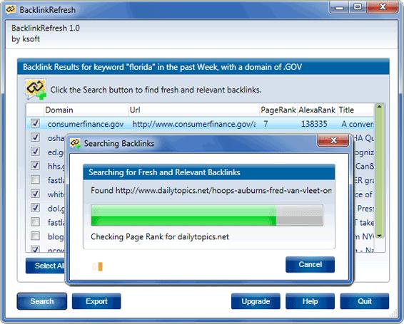 BacklinkRefresh Screenshot 1