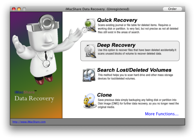iMacShare Data Recovery for Mac Screenshot