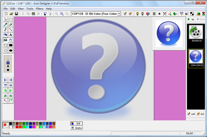 321Soft Icon Designer Screenshot