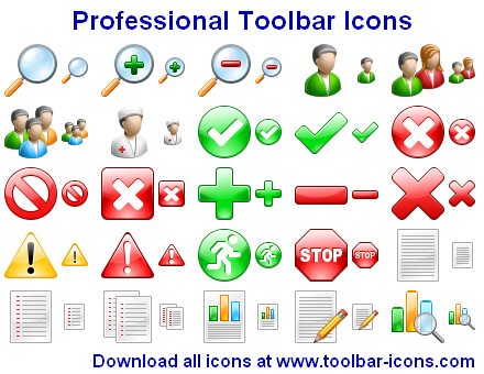 Professional Toolbar Icons Screenshot