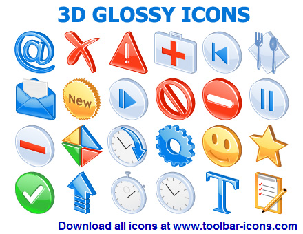 3D Glossy Icons Screenshot 1