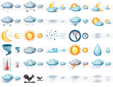 Large Weather Icons Screenshot