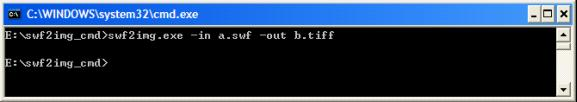 Flash to Image Converter Command Line Screenshot