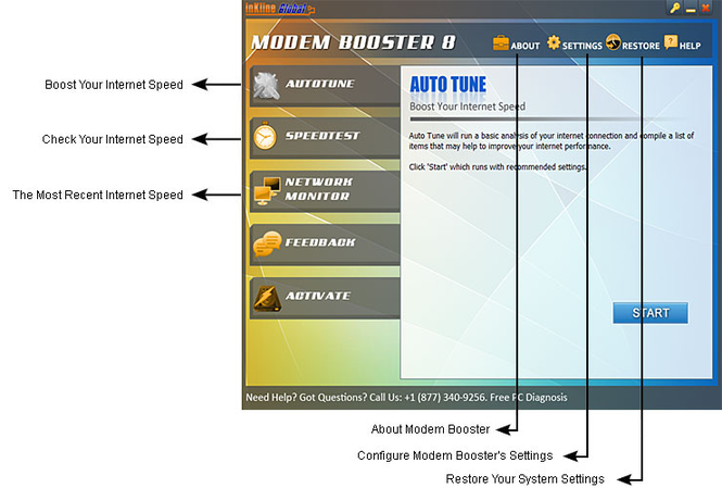 Modem Booster Screenshot 1