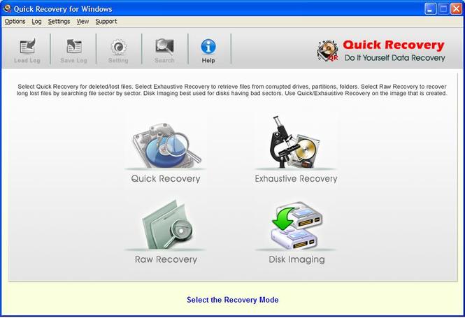 Windows Data Recovery Screenshot
