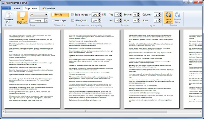 Hexonic ImageToPDF Screenshot