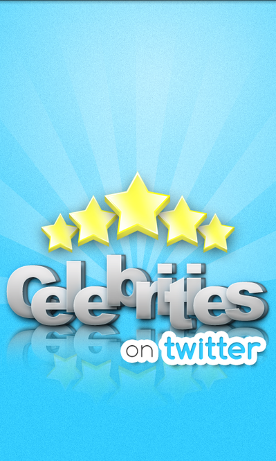 Celebrities on Twitter Screenshot