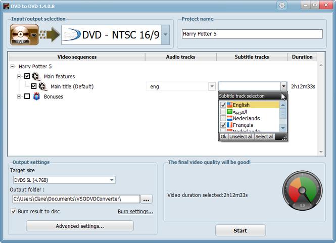 DVD to DVD Screenshot
