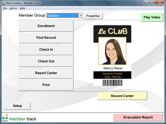 Member Track Member Management Software Screenshot