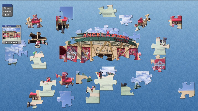 SVP MLB Angels Stadium Puzzle Screenshot