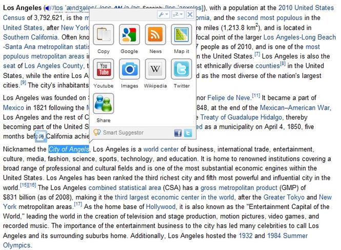Smart Suggestor for Internet Explorer Screenshot 1
