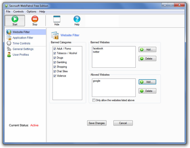 Sevnsoft WebPatrol Screenshot