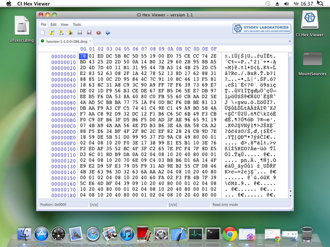 CI Hex Viewer (Mac OS) Screenshot