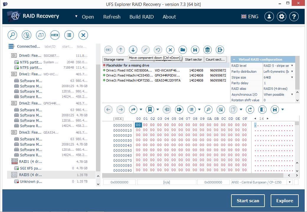 UFS Explorer RAID Recovery (MacOS) Screenshot
