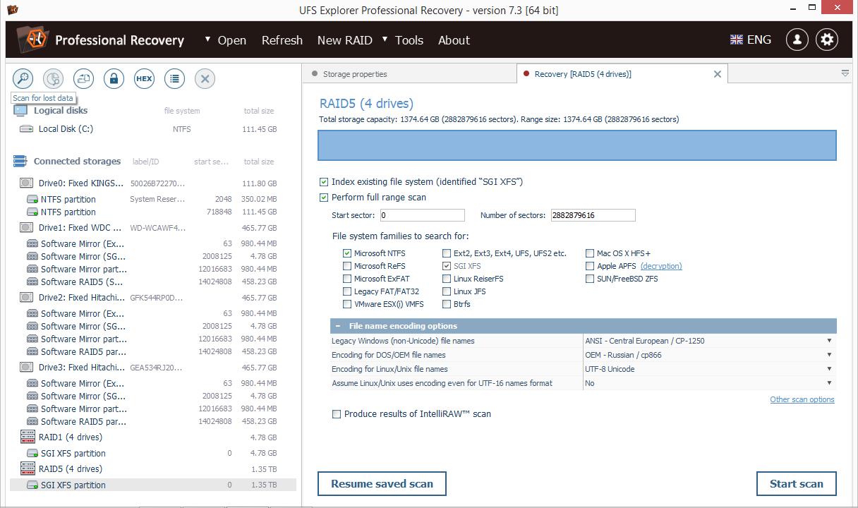 UFS Explorer Professional Recovery (Mac) Screenshot