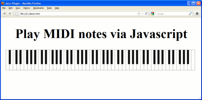 Jazz-Plugin (Mac OS X) Screenshot
