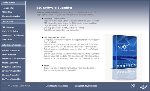 SEO Software Submitter Advanced Edition Screenshot 1