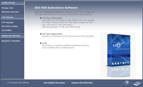 RSS Blog Submitter Standard Edition Screenshot 1