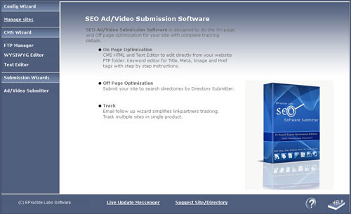 Free Ad/Video Submitter Standard Edition Screenshot