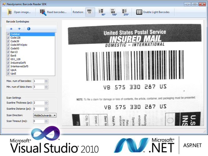 Barcode Reader SDK for .NET Screenshot 1