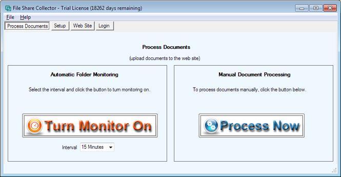 File Share Collector Screenshot