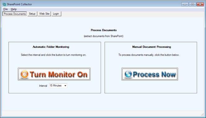SharePoint Collector Screenshot