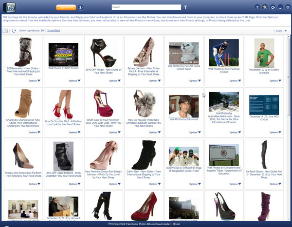 fYO Facebook Photo Album Downloader Screenshot