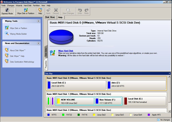 Disk Wiper 11 Personal Screenshot