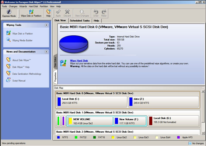 Disk Wiper 11 Professional Screenshot
