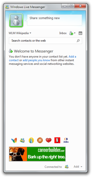 Windows Live Messenger Screenshot 1