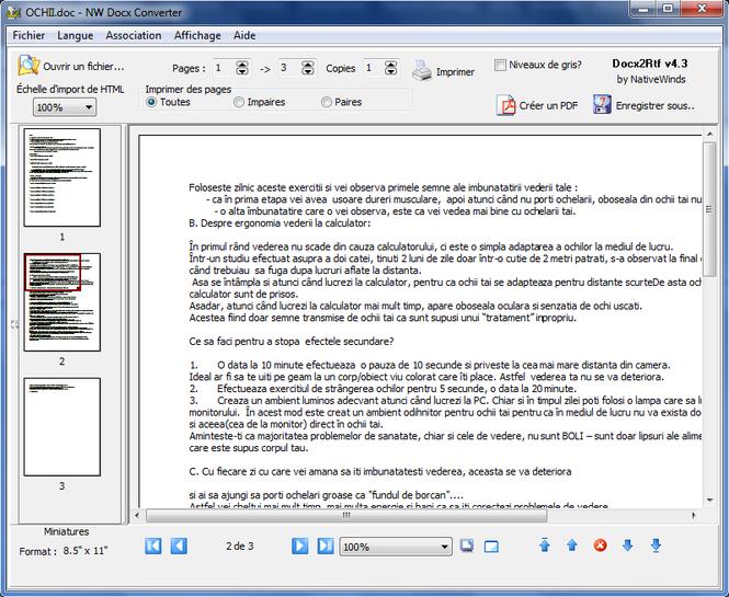 NW Docx Converter Screenshot