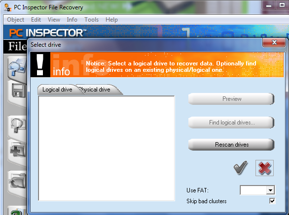 PC Inspector File Recovery Screenshot 1