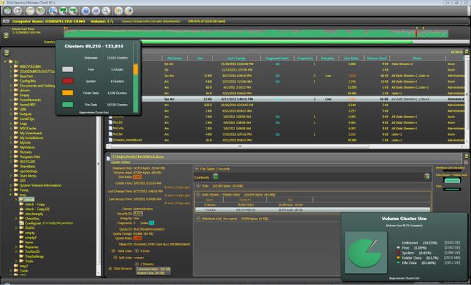 Disk Spectra Screenshot