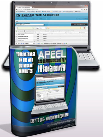 Apeel PHP Code Generator Pro Screenshot 1