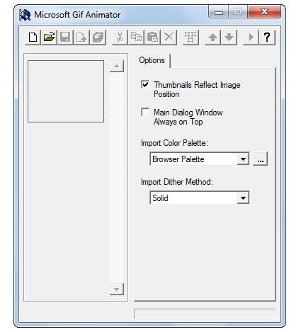 Microsoft GIF Animator Screenshot