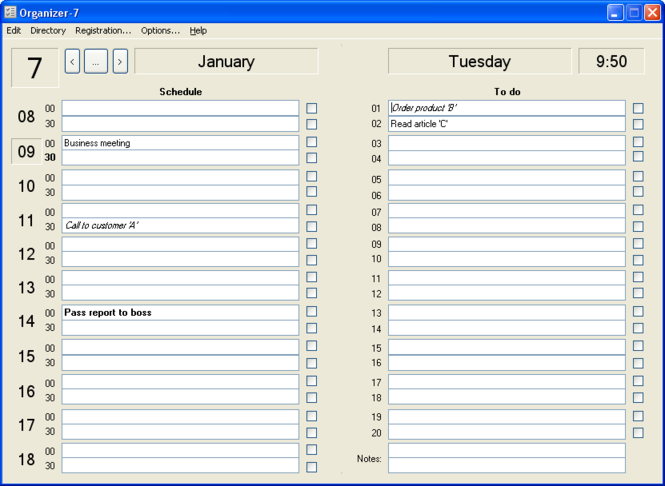 Organizer-7 Screenshot