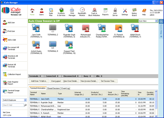 iCafe Manager Screenshot