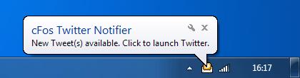 cFos Twitter Notifier Screenshot 1