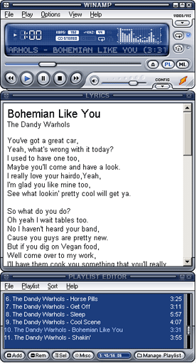 Lyrics Plugin for Winamp Screenshot 1
