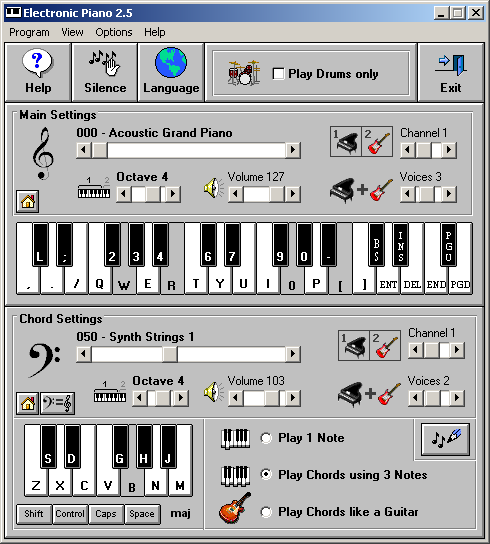Electronic Piano Screenshot