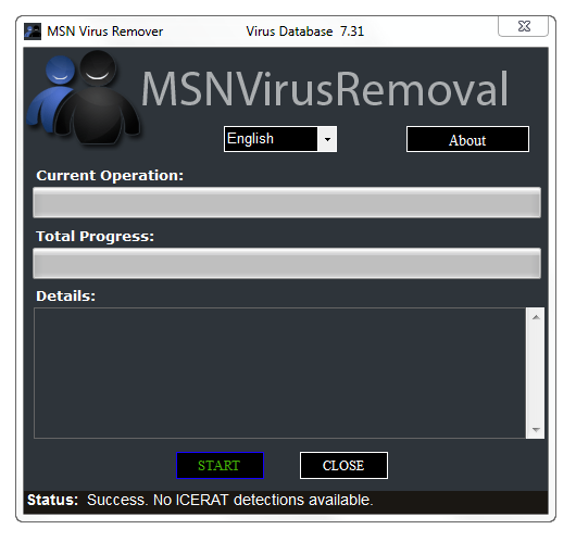 MSN Virus Remover Screenshot