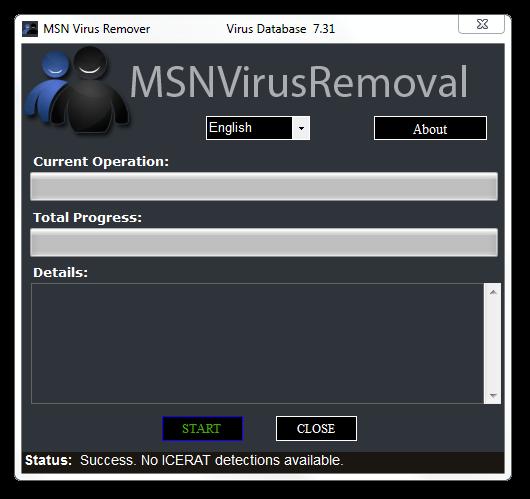 MSN Virus Remover Screenshot 1