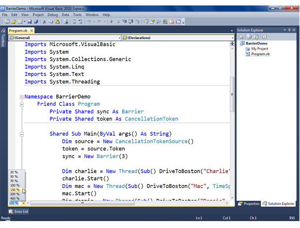 Visual Basic Screenshot 2